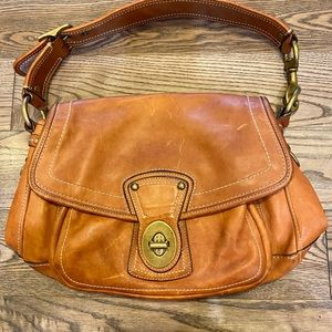 Coach 10329 whiskey brown leather legacy bag